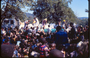 Clothing distribution at Tongogara in Zimbabwe