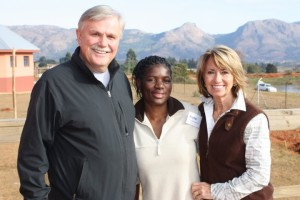 Rachel with 2 of her mentors, Jerry & Karen Holte, at the Global Leadership Academy in Swaziland