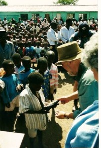 Clothing distribution in Zimbabwe
