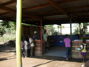CarePoint kitchen where sponsored children like Gcinile receive their meals and clean water.
