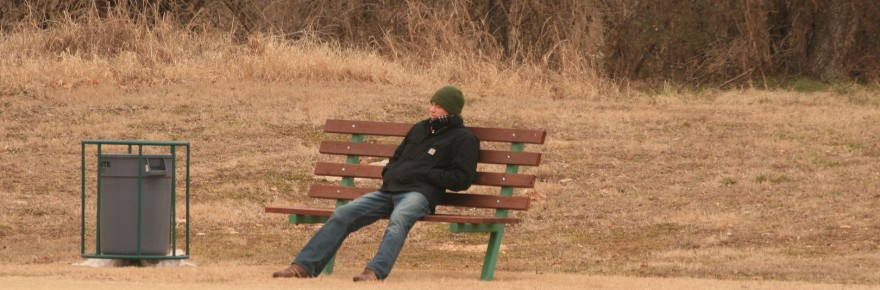 man on park bench morguefile