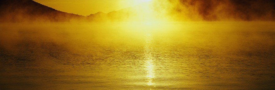 Sun Rising over Lake