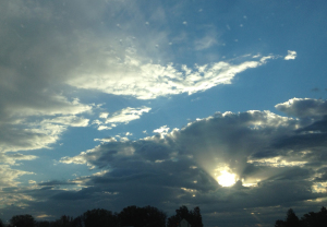 clouds parting