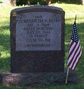 Ken's headstone