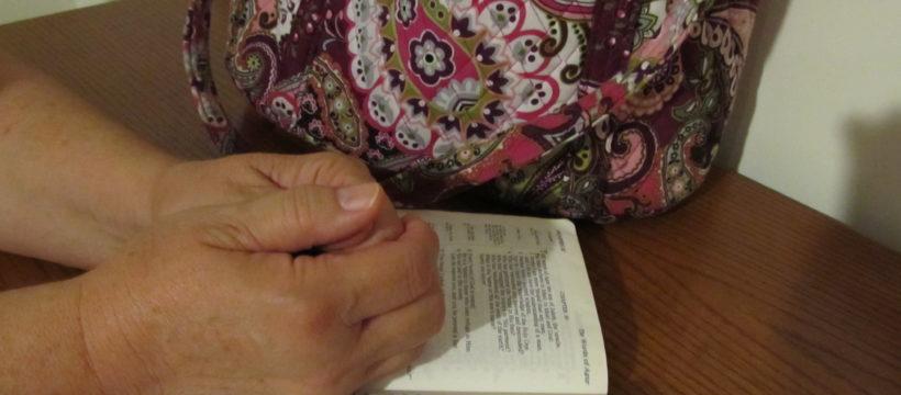 praying hands close up