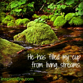 A stone smoothed by flowing river reminds me of God's faithfulness.